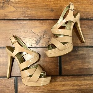 Nude Jessica Simpson Strappy Heel